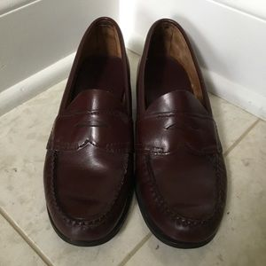 Vintage BASS brown penny loafers shoes 7 N